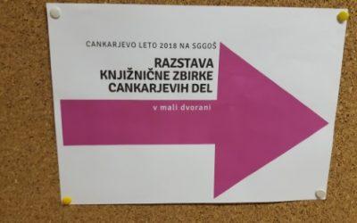 Razstava knjižnične zbirke Cankarjevih del – maj 2018
